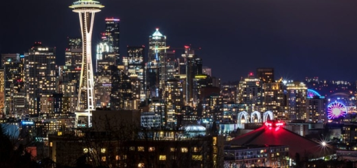 Seattle Skyline Washington City Space Needle Pacific Northwest PNW