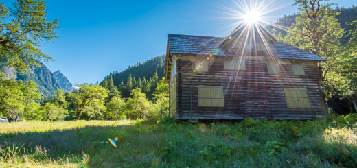 The chalet in the Enchanted Valley in Olympic National Park, Washington.